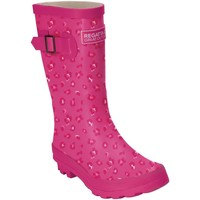 Shoes Children Wellington boots Regatta FAIRWEATHER JUNIOR Wellingtons Navy Snorkel Blue Pink Pink