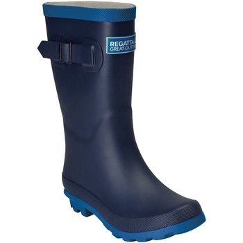 Shoes Children Wellington boots Regatta FAIRWEATHER JUNIOR Wellingtons Navy Snorkel Blue Blue Blue