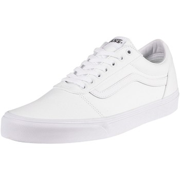 Shoes Men Fitness / Training Vans Ward Canvas Trainers white