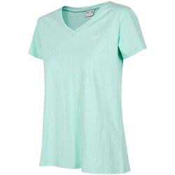 Clothing Women Short-sleeved t-shirts 4F TSD002 Green