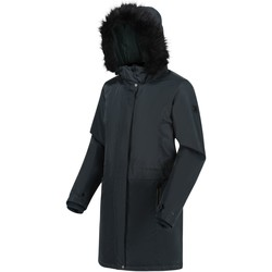 Clothing Women Coats Regatta LEXIS Darkest Spruce Black Black