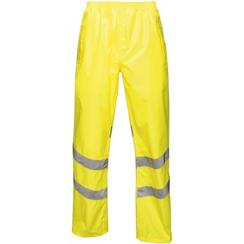 Clothing Men Trousers Professional HIVISPRO Overtrousers Packaway Orange Yellow Yellow