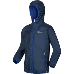 Clothing Children Macs Regatta LEVER II Waterproof Shell Jacket Seal Grey Blue Blue