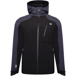 Clothing Men Macs Dare 2b DILUENT III Waterproof Technical Jacket Black Ebony Grey Black Black