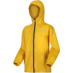 Clothing Children Macs Regatta PACK-IT III Waterproof Shell Jacket Petrol Blue Yellow Yellow