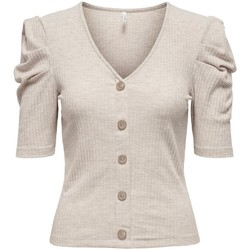 Clothing Women Tops / Blouses Only TOP  NELLA 15225031 Beige