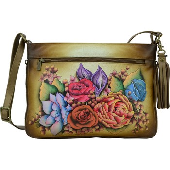 Bags Women Shoulder bags Anuschka 616 Lush Lilac Bronze-Hand Painted Leather Multicolour