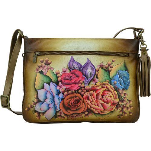 Bags Women Shoulder bags Anuschka 616 Lush Lilac Bronze-Hand Painted Leather Multicolour