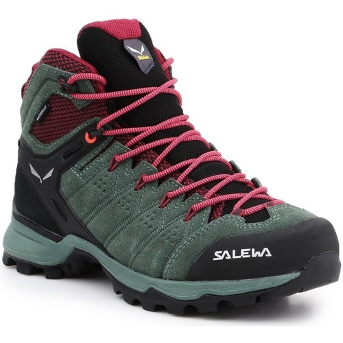 Shoes Men Walking shoes Salewa WS Alp Mate Mid WP 61385-5085 red, green