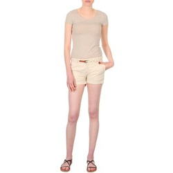 Clothing Women Shorts / Bermudas Franklin & Marshall MACQUARIE Beige