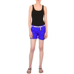 Clothing Women Shorts / Bermudas Franklin & Marshall CALOUNDRA Blue