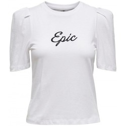 Clothing Women Short-sleeved t-shirts Only TOP  ELLA 15225872 White