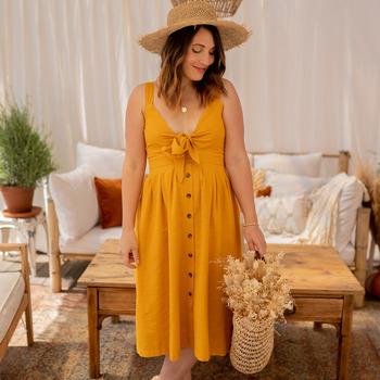 Clothing Women Long Dresses Céleste CAMOMILLE Yellow