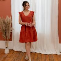 Clothing Women Short Dresses Céleste DAHLIA Terracotta