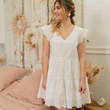 Clothing Women Short Dresses Céleste DAHLIA White