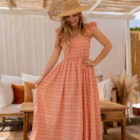 Clothing Women Long Dresses Céleste AURORE Pink