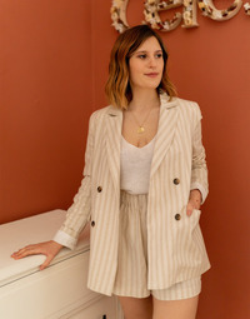Clothing Women Jackets / Blazers Céleste ALIZE Beige