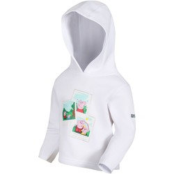 Clothing Children Sweaters Regatta PEPPA HOODY Fleece Bright Blush White White