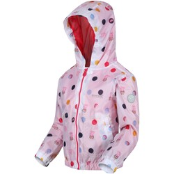 Clothing Children Parkas Regatta MUDDY PUDDLE Waterproof Shell Jacket White Polka White White