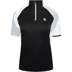 Clothing Women Short-sleeved t-shirts Dare 2b COMPASSION Cycling Jersey White Black Black Black