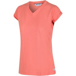 Clothing Women Short-sleeved t-shirts Regatta FYADORA TShirt Ice Green Orange Orange