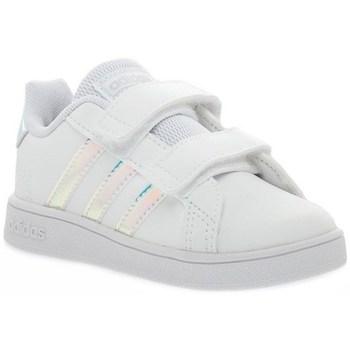 Shoes Children Low top trainers adidas Originals Grand Court I White