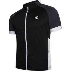 Clothing Men Short-sleeved t-shirts Dare 2b PROTRACTION Technical Cycling Jersey Black Ebony Grey Black Black
