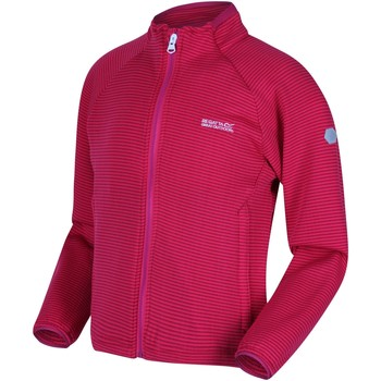 Clothing Girl Fleeces Regatta JUNIOR HIGHTON LITE Softshell Jacket Nautical Blue Pink Pink