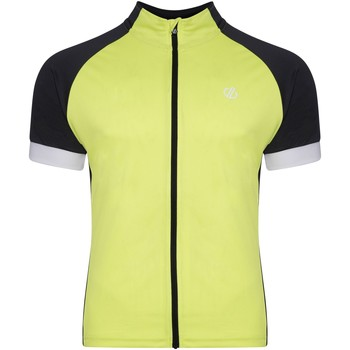 Clothing Men Short-sleeved t-shirts Dare 2b PROTRACTION Technical Cycling Jersey Black Ebony Grey Yellow Yellow