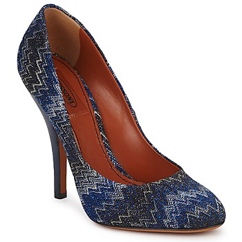 Shoes Women Heels Missoni VM005 Blue