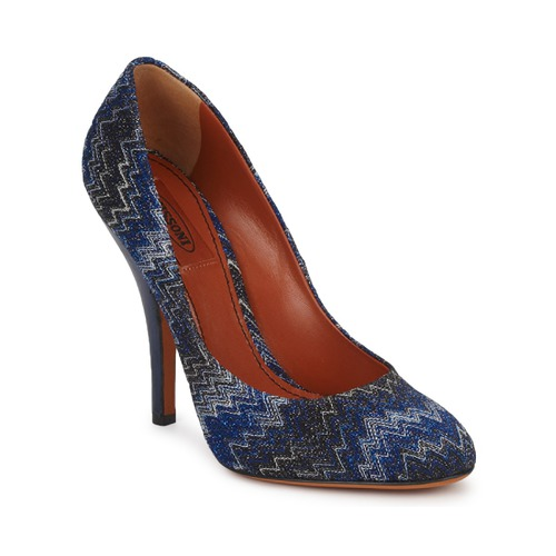Shoes Women Heels Missoni VM005 Blue