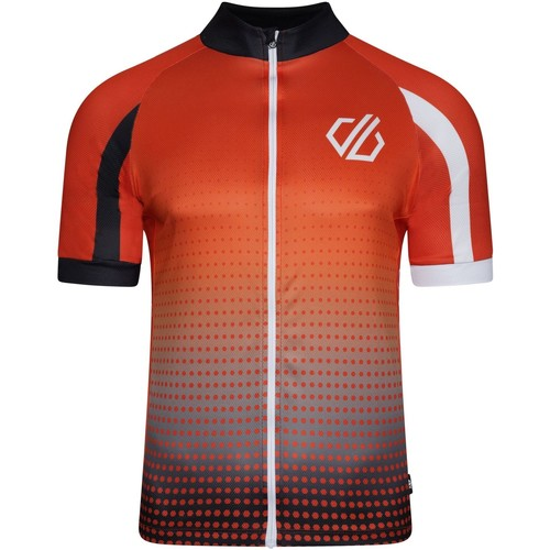 Clothing Men Short-sleeved t-shirts Dare 2b AEP VIRTUOSITY Short-Sleeved Cycling Jersey Black Gradient  Red Red