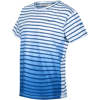 Clothing Children Short-sleeved t-shirts Regatta MANTHOS TShirt Navy Stripe Blue Blue
