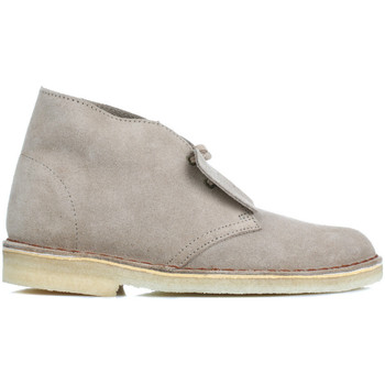 Shoes Women Mid boots Clarks Womens Sand Desert Suede Boots Beige