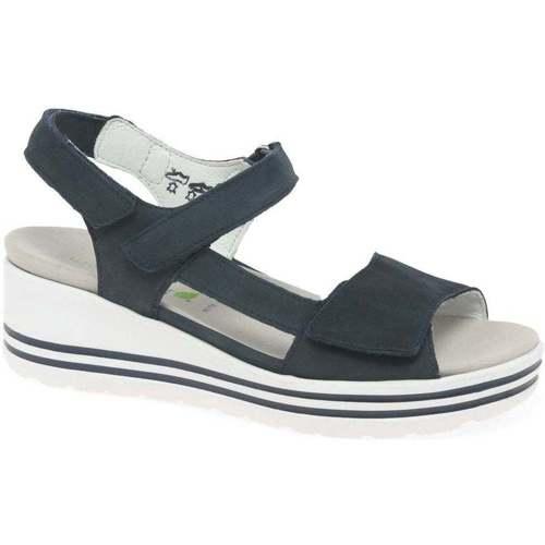 Shoes Women Sandals Waldläufer Maura Womens Wedge Heel Sandals blue