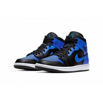 Shoes Hi top trainers Nike Air Jordan 1 Mid Royal blue Black/Hyper Royal-White