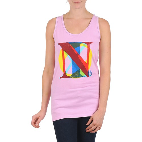 Clothing Women Tops / Sleeveless T-shirts Nixon PACIFIC TANK Pink / Multicolour