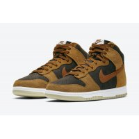 Shoes Hi top trainers Nike Dunk High Prm Dark Russet Velvet Brown/Dark Russet-Dark Curry-Sail