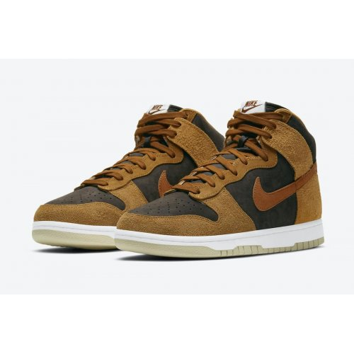 Shoes Hi top trainers Nike Dunk High Prm Dark Russet Velvet Brown/Dark Russet-Dark Curry-Sail
