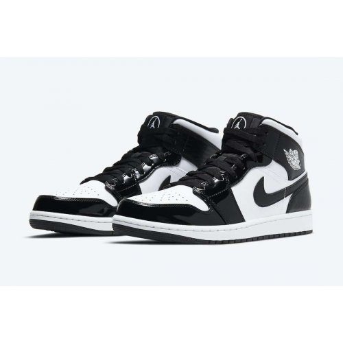 Shoes Hi top trainers Nike Air Jordan 1 Mid All Star Carbon Fiber Black/White