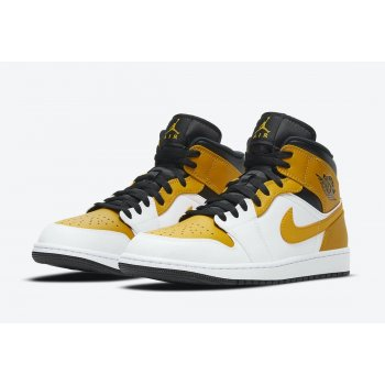 Shoes Hi top trainers Nike Air Jordan 1 Mid University Gold White/University Gold-Black