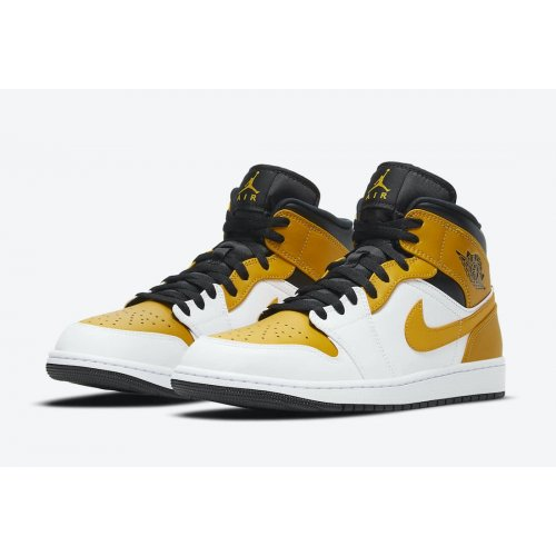 Shoes Hi top trainers Nike Air Jordan 1 Mid University Gold White/University Gold-Black