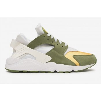 Shoes Low top trainers Nike Air Huarache LE x Stussy Dark Olive Dark Olive/White-Varsity Maize-Ivory