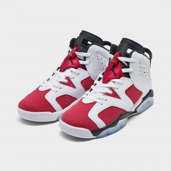 Shoes Hi top trainers Nike Air Jordan 6 Carmine White/Black/Carmine
