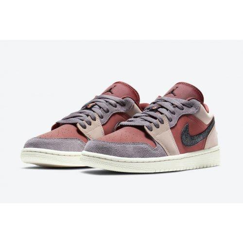 Shoes Low top trainers Nike Air Jordan 1 Low Canyon Rust Canyon Rust/Black-Purple Smoke