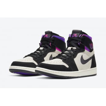 Shoes Hi top trainers Nike Air Jordan 1 Zoom x PSG White/Black-Psychic Purple-Hyper Pink