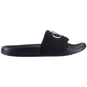 Shoes Men Sliders Calvin Klein Jeans Jeans Hertiage Logo Slide Black