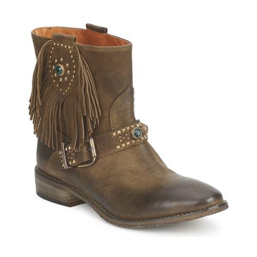Shoes Women Mid boots Strategia GRINO Kaki
