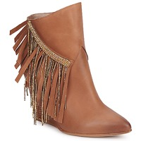 Shoes Women Ankle boots Strategia FRANGINOU Nude / Brown