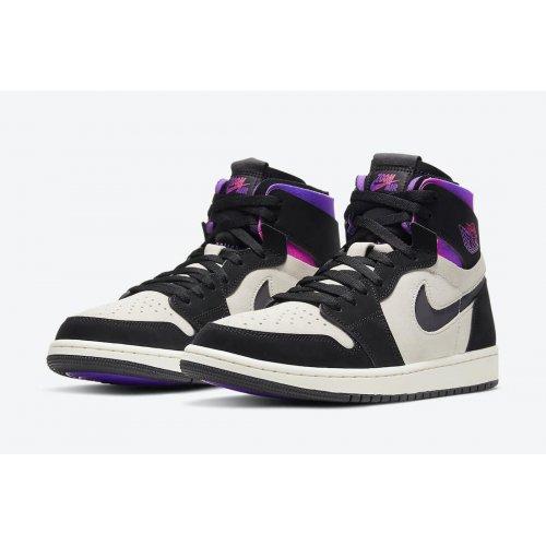 Shoes Hi top trainers Nike Air Jordan 1 Zoom x PSG White/Black-Psychic Purple-Hyper Pink